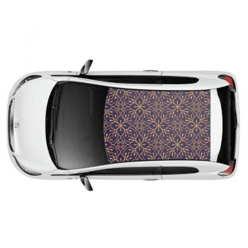 Classy Pattern Car Roof Sticker