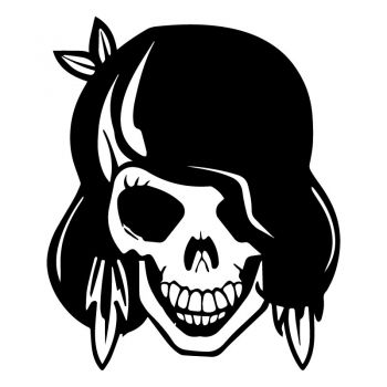 Girl Skull Decal