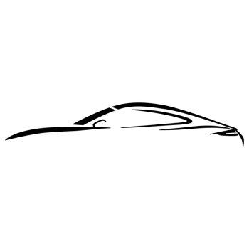 Porsche 911 Outline Decal