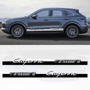 Kit Stickers Bandes Porsche Cayenne Transsyberia