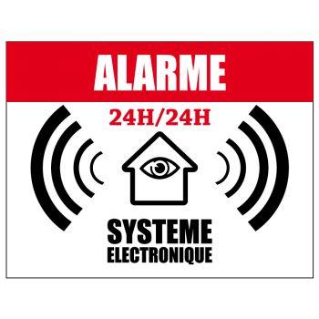 Sticker Alarme 24h/24h Système Electronique