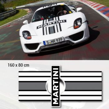 Porsche Martini Hood Stripe Car Decal