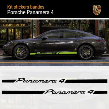 Porsche Panamera 4 Car Stripes Sticker Set