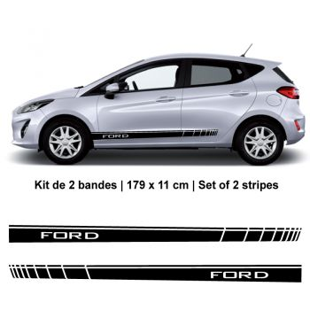 Kit Stickers Bandes Bas de Caisse Ford Fiesta 2019