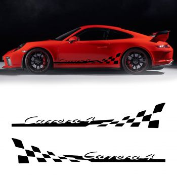 Porsche 911 Carrera 4 Car Stripes Decals