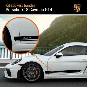 Porsche 718 Cayman GT4 Stripes Decals Set