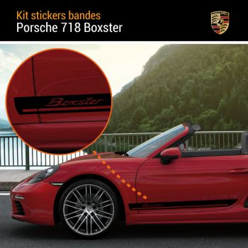 Porsche 718 Boxster Stripes Decals Set