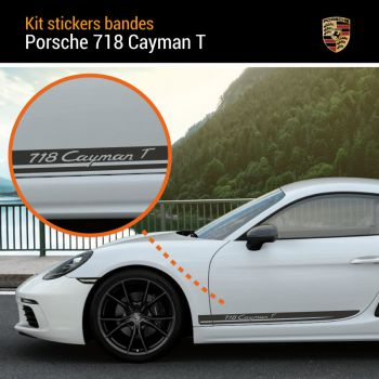 Porsche 718 Cayman T Stripes Decals Set