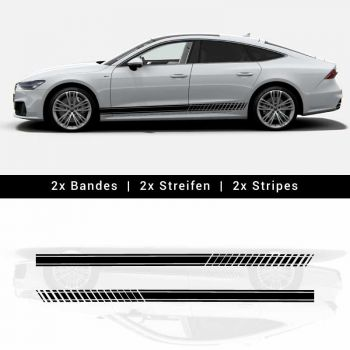 Stickers Bandes Audi A7 / S7 2019 Abarth Style