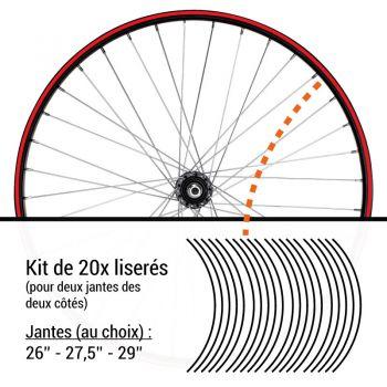 Bike Wheel Rim Decals Set