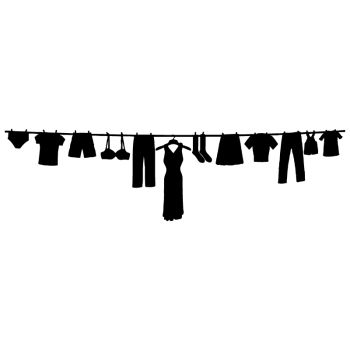 Laundry on rope Decal