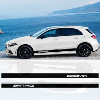 Mercedes A-Class AMG stripes decals set