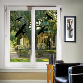 Birds Silhouettes Windows Decals (A4 Format)