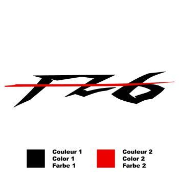 Yamaha FZ6 Bicolor Aufkleber