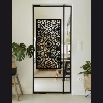 Sticker Glass Door Moucharabieh Frame