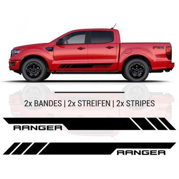 Kit Stickers Bandes Bas De Caisse Ford Ranger