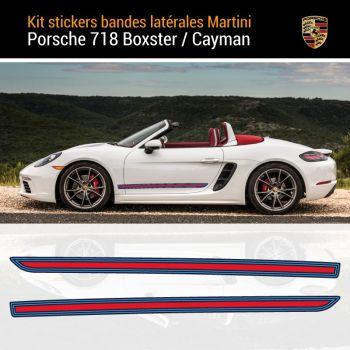Porsche 718 Boxster Martini Streifen Aufkleber