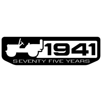 Jeep 1941 Seventy Five Years Decal