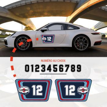 Kit Stickers Portes Martini International Club Racing Porsche 911