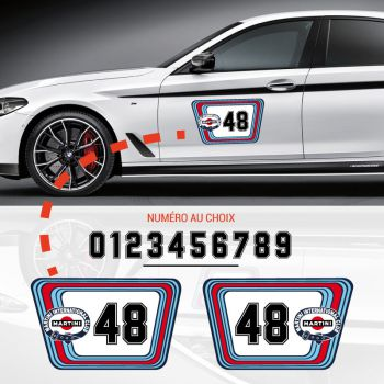 Kit Stickers Portes Voiture Martini International Club Racing