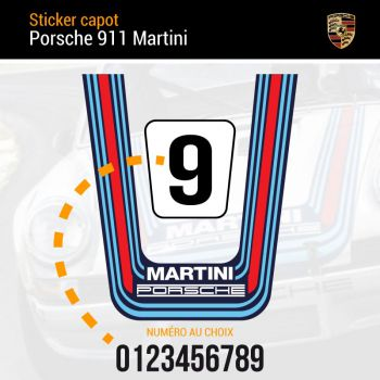 Porsche 911 Martini Hood Decal