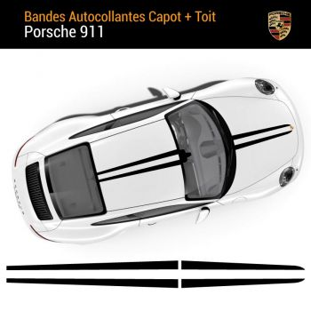 Porsche 911 Hood and Roof Stripes Stickers