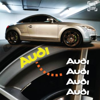 Kit Stickers Jantes Audi Logo Ancien