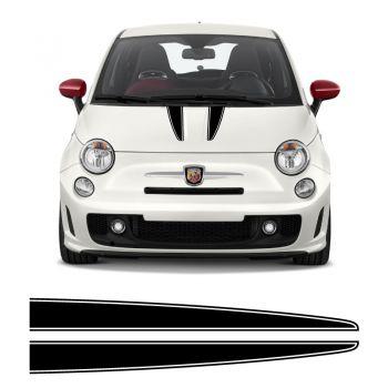 Fiat Abarth 500 - 595 Car Hood Stripe Decal