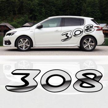 Sticker Peugeot 308 Effet 3D