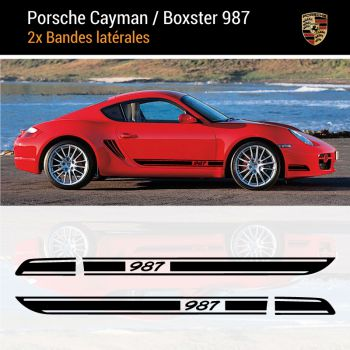 Porsche Cayman / Boxster 987 Side Stripes Decals Set