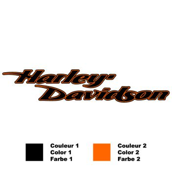 Harley Davidson Bicolor Decal