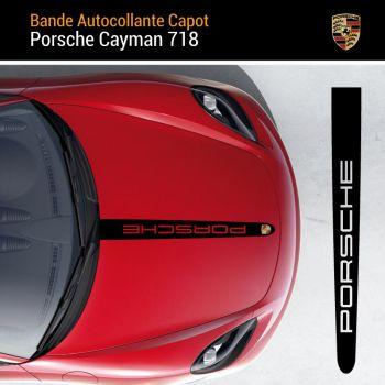 Porsche Cayman Hood Strip Decal