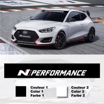 Sticker Bande Pare-Soleil Hyundai N-Performance