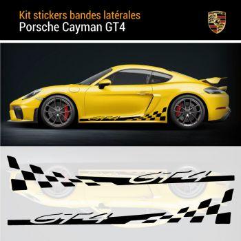 718 Cayman GT4 Check Stripes Decals Set