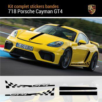 718 Cayman GT4 Stripes Decals Complete Set
