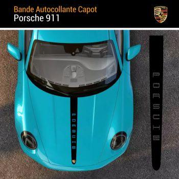 Porsche 911 Vertical Hood Strip Decal