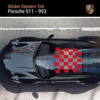 Porsche 911 - 993 Checkered Roof Decal