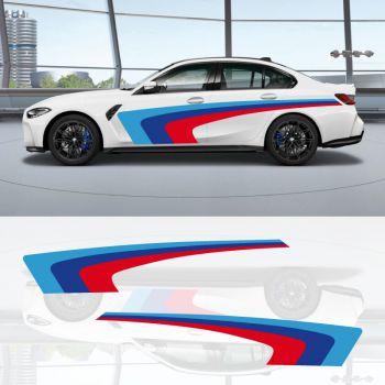 BMW Serie M3 Streifen Aufkleber