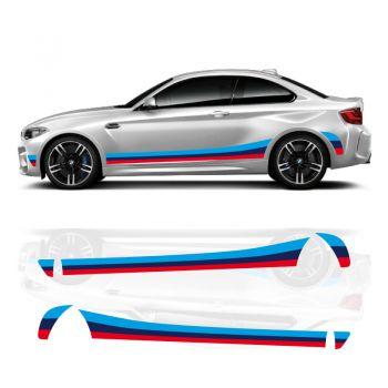 BMW M2 Seitenstreifen Aufkleber Set