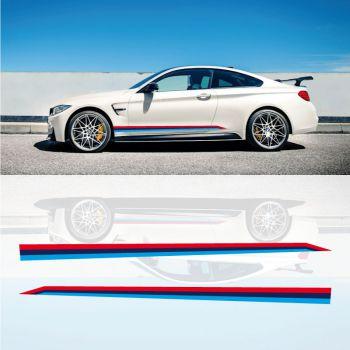 BMW M4 Performance Seitenstreifen Aufkleber