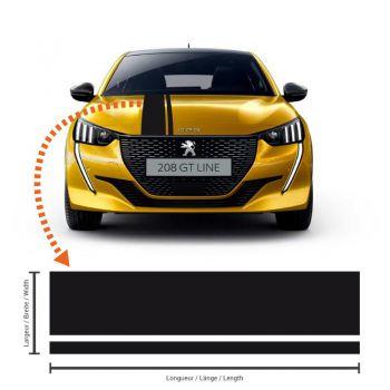 Peugeot 208 Racing Streifen Aufkleber #2