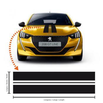 Peugeot 208 Racing Streifen Aufkleber #6