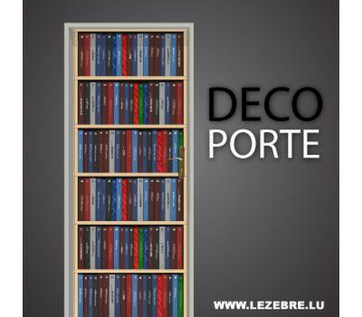 Autocollant Déco Porte Bibliothèque III