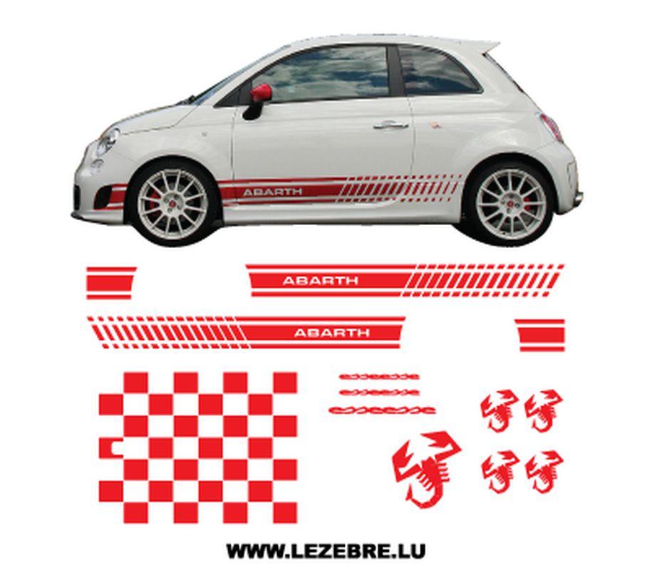 Fiat 500 Abarth Esseesse Long decals set