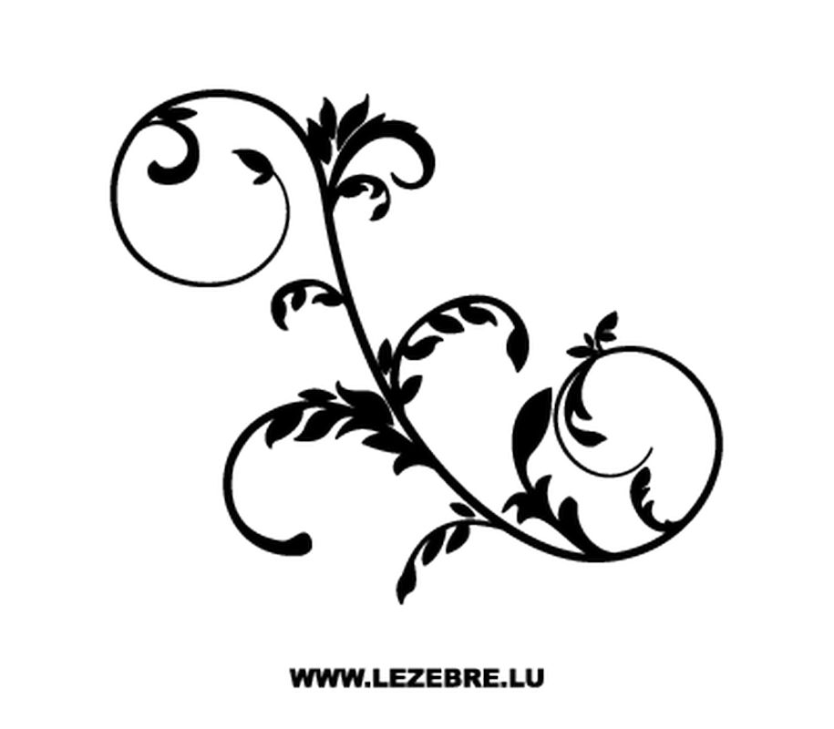 Floral ornament decal