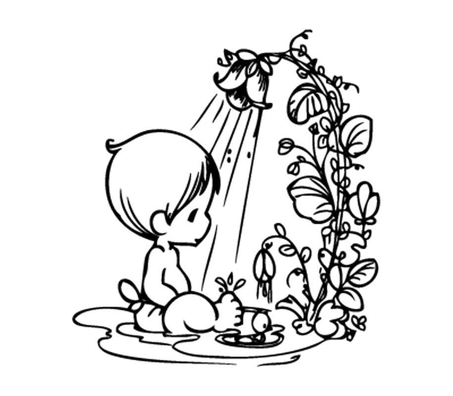 baby taking a bath bathroom door decal. Black Bedroom Furniture Sets. Home Design Ideas