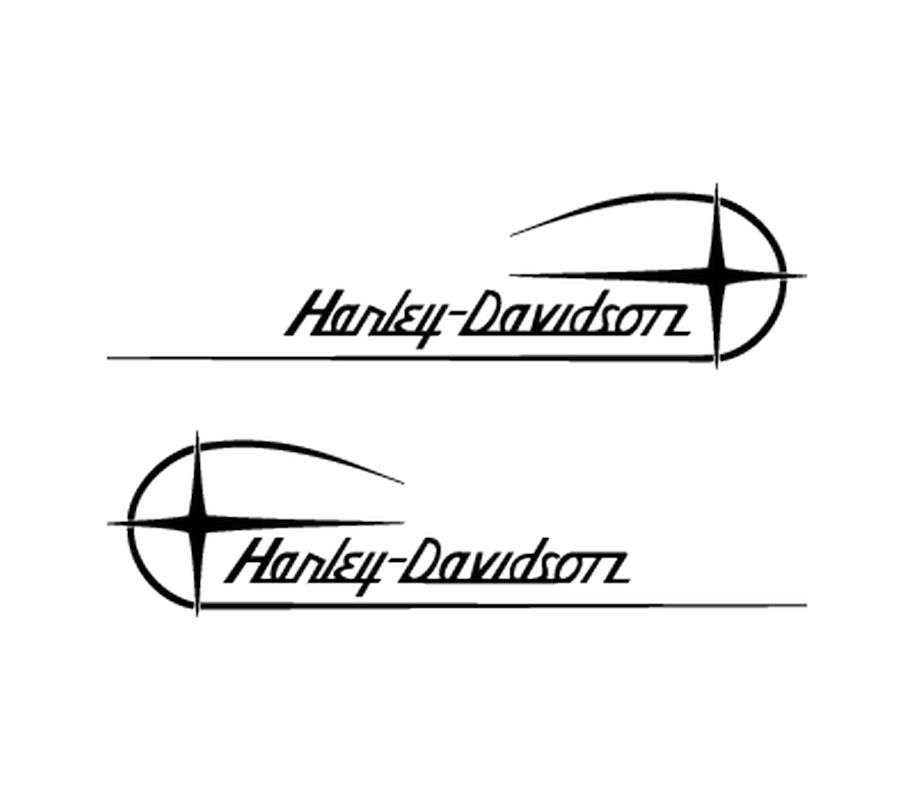 Harley Davidson Motorcycles Decals Set - Harley davidsons motorcycles stickers
